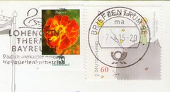 Holiday RR #64 (CoBu Family) Tags: flowers germany children book little stamps space prince special tale asteroid tagetes cancellation definitive