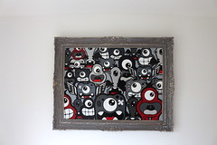 TheFamilyFramed - 02 (Jepeinsdesaliens) Tags: family famille art smile lines illustration painting graffiti design sketch acrylic noir drawing dessin canvas popart frame characters sourire cadre acrylique personnages poscapens poscaart poscadesign