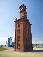 'Over my dead body, lad!' (Nanny Bean) Tags: watertower clocktower trompedoeil middlesbroughcollege middlesbroughdocks