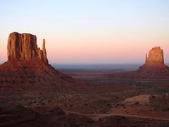 P900  1368ex  a pair of mittens--late evening (jjjj56cp) Tags: sunset arizona rock utah desert horizon p900 highdesert navajo monumentvalley rockformations coloradoplateau navajotribalpark themittens navajotriballand triballand jennypansing