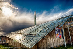 Astrup Fearnley Museum of Modern Art (eenty) Tags: roof sky sun building glass oslo norway architecture modern clouds no handheld hdr 5xp astrupfearnleymuseum