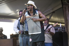 Rockin Dopsie Jr. & The Zydeco Twisters at Jazz Fest 2015, Day 5, May 1