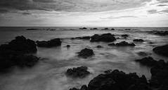 Ominous Hawaii Beaches (Aakash Gupta Photography) Tags: longexposure blackandwhite bw white black beach hawaii rocks nd daytime waikoloa neutraldensity
