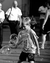 The bobble mage (pieroemme) Tags: street people bw white black art kid nikon child potrait flikr mage bobble streetphotograpy 18140 d7100