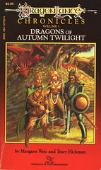 Novel-Weis&Hickman-Dragons-of-Autumn-Twilight (Count_Strad) Tags: dragons adventure elf fantasy novel dungeons tsr dragonlance