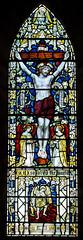 Abbey Dore Herefordshire - Ambulatory - Crucifixion Window (David Cronin) Tags: glass mary stainedglass stained powell herefordshire cistercian crucifixion saintmary abbeydore
