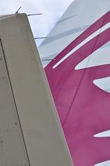 Airbus A319-133(LR) (A380spotter) Tags: tail tailfin verticalstabiliser rudder empennage horizontalstabliser elevator tailplane airbus a319 100lr 100 a7cja  alhilal qatar  qatarairways qtr qr  qatarexecutive qqe qe staticdisplay fia16 sbacfarnboroughinternationalairshow2016 taglondonfarnboroughairport eglf fab