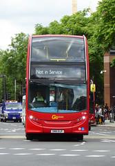 GAL E188 - SN61BJF - ELEPHANT & CASTLE - SUN 3RD JULY 2016 (Bexleybus) Tags: elephant london castle ahead go route 400 and service dennis enviro tfl adl in goahead not e188 sn61bjf