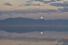 Wasatch moonrise (Great Salt Lake Images) Tags: summer moonrise causeway mileone farmingtonbay greatsaltlake utah