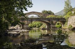 Puente sobre puente (Fernando F. Fernandez) Tags: espaa asturias cangasdeonis nikon riosella puente puenteromano paisaje landscape spain sol verano summer river principadodeasturias sun