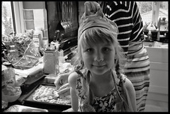 9th of April 2016 (Paul of Congleton) Tags: family blackandwhite home cooking kitchen girl monochrome childhood digital child sony katie diary katherine pizza domestic april 2016 myeverydaylife rx100