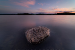 Above surface (sehlen.photography) Tags: stones stone water long exposure sea ocean lake twilight evning dawn horizon mountain landscape color colorful nikondf clouds cloudscape silky smooth sharp