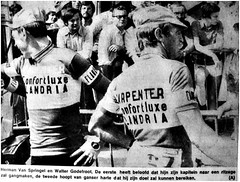 1975 TDF Flandria Boys in the Tour (Sallanches 1964) Tags: 1975 tourdefrance flandria roadcycling flandriens hermanvanspringel waltergodefroot belgiancyclists