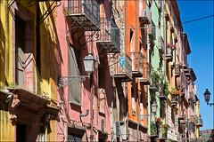bosa (heavenuphere) Tags: bosa oristano sardegna sardinia sardinie italia italy europe island colourful houses architecture facade balconies 24105mm