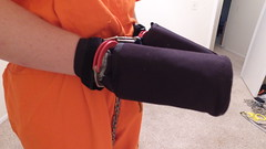 DJI_0214 (boblaly) Tags: orange prison prisoner jail inmate handcuffs cuffed shackled shackles chains chained restraints detention convict arrested belly chain jumpsuit uniform