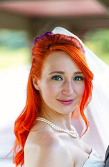 Red Beauty (tom.ohle) Tags: emilyandtyler wedding headshot portrait pentax pentaxk1 k1 77mm pentaxsmcfa77mmf18limited beautiful woman elegant happyday red redhair fireredhair canada edmonton alberta color smc