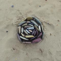 stone rose (wild goose chase) Tags: stone pebble landart