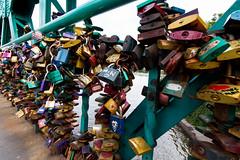 Secured? (PabloClavo) Tags: breslau wroclaw city street bridge padlocks love