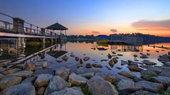 Sunset glow @ Lower Peirce Reservoir, Singapore (gintks) Tags: gintaygintks gintks singapore singaporetourismboard singapur 2016 seascape landscapes reflection peircereservoirpavillion sunsetglow