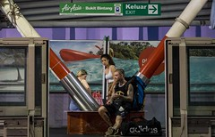 Wandering tourist (sydbad) Tags: bukitbintang monorail station wandering tourist ilce6000 sony sel35f28z streetphotography
