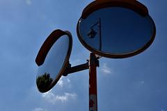 mirrors (naitokz) Tags: japan yokohama 横浜 mirror ミラー 鏡 blue sky 青空
