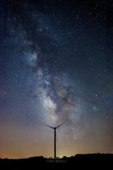 A Candy Bar (Axiz Photography) Tags: milkyway astro night longexposure nikon windpower windmill summer