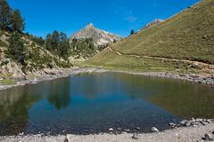Laquet d'avant le lac du milieu 2197m (alainlecroquant) Tags: montagne lac pyrnes nouvielle oule bastan infrieur suprieur milieu barrage artigusse parking vache cheveaux refuge refugedebastan