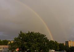 Regenbogen in Moabit (Leif Hinrichsen) Tags: sommer summer july juli regenbogen berlin westhafen putlitzbrcke moabit wetter himmel wolken sky clouds rainbow regen unwetter rain quitzowstrase