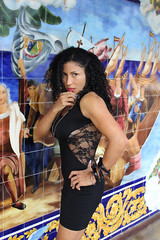 Edna and Colombus (California Will) Tags: edna latina beauty beautiful sheer blackdress ybor florida fl tampa