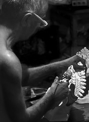 The Old Potter (connect2sayantan) Tags: nikon d5100 kolkata westbengal india durgapuja idols festival joy sculptures kumartuli kumortuli goddess holy god divine