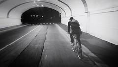 The lone rider (fabfala) Tags: bike bw underthebridge galleria bici biancoenero blackwhite noiretblanc