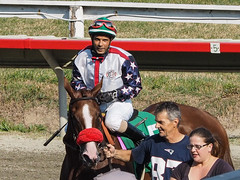 Tania (Panell, Dyn) (avatarsound) Tags: boston suffolkdowns horse horseracing jockey race racetrack racing