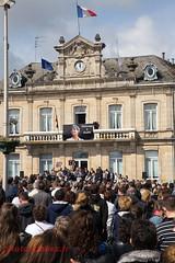 Hommage  Aurlie, Caudry 26 avril 2015 (louis.labbez) Tags: femme souvenir terrorism murder marche mairie manifestation aurlie villejuif chatelain terroriste meurtre marcheblanche caudry islamiste labbez