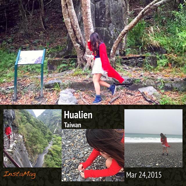 ⛅️🐾🌊聽說 花蓮5.7級大地震了⋯紅衣少呂還在山裡玩耍 海邊堆石頭⋯💔🌀☔️   #chihsingTan #hualien #earthquake #taiwan #springvacation