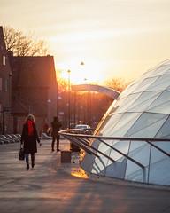 Triangeln (Gustaf_E) Tags: city red woman station scarf skåne sweden sverige malmö stad triangeln tågstation citytunneln