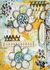 Art Journal Page - Less Madness (Roben-Marie) Tags: art painted journal 5th stamped layered journaling doodled robenmarie paperbagstudios thedocumentedlifeproject