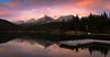 Green Lake and the Parkhurst range. (P.A.B.) Tags: trees sunset sky lake canada water clouds swim whistler spring britishcolumbia coastmountains garibaldiprovincialpark graduatedfilter gnd4 cokinfilters nikond800e garibaldiranges nikonnikkor2470mmf28afsged