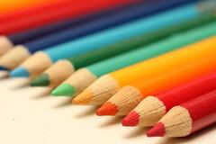 Coloured Pencils (amyeb007) Tags: macro art pencils rainbow coloured colouring artsupplies colouredpencils