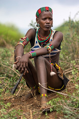 Hamer girl near Turmi, Omo Valley, Ethiopia