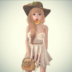 Se7en +18 (Fine Frankel (=Zenith= Manager)) Tags: pink summer flower cute bag truth mesh toast sl secondlife zenith