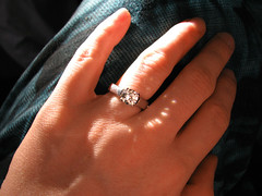 White Sapphire Engagement Ring 08