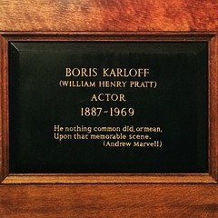 Boris Karloff (badger_beard) Tags: london church plaque garden actors memorial stpauls covent boris karloff