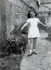 DANCING OUTSIDE (RAZEL DAZEL JOHN MORGAN) Tags: old bw white black vintage found photo interesting different photographer photos unitedkingdom album unknown and unusual