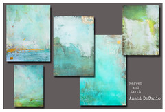 FINE ART SAMPLES - HEAVEN AND EARTH LO (MY PINK SOAPBOX) Tags: blue ny art artist arte turquoise mixedmedia abstractart paintings longisland artexhibit thehamptons mixedmediaart heavenandearth tierraycielo anahidecanio pintorauruguaya artyzenstudios