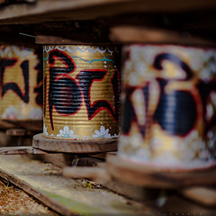 Prayer wheels (Michael Holden) Tags: festival hippies oregon eugene event ocf oregoncountryfair counterculture veneta oregoncountyfair ocf2016 oregoncountryfair2016