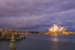 Evening Opera House (satochappy) Tags: sunset cloud evening twilight sydney australia nsw operahouse sydneyharbour