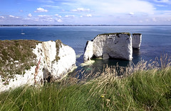 old harry rocks (Mark Rigler UK) Tags: old harry rocks studland ballard swanage juarrasic coast sea dorset england blue sky white calm