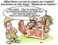 CinghialiSPQR (Moise-Creativo Galattico) Tags: roma vignette satira raggi attualit spazzatura moise giornalismo cinghiali editoriali moiseditoriali editorialiafumetti