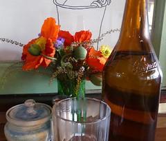 Footbridge (YAZMDG (16,000 images)) Tags: flowers light glass coffee caf table bottle footbridge coffeehouse contrejour