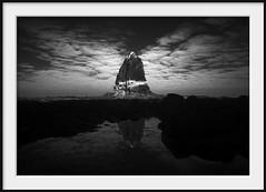 pulpit rock reflected (Andrew C Wallace) Tags: ocean clouds reflections ir australia victoria infrared coastline rockpool pulpitrock m43 capeschanck rockshelf morningtonpeninsulanationalpark microfourthirds olympusomdem5